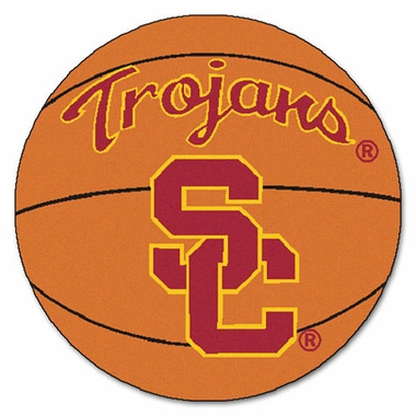 USC 27 Inch Basketball Shaped Rug
