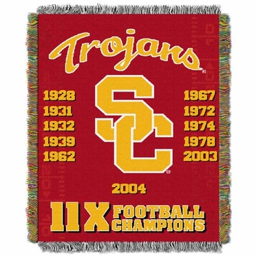 USC Commerative Jacquard Woven Blanket