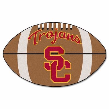 USC Football Shaped Rug