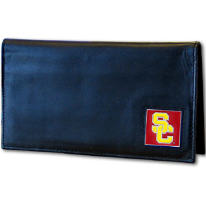 USC Leather Checkbook Cover (F)