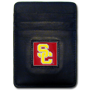 USC Leather Money Clip