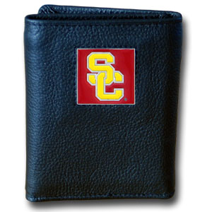 USC Leather Trifold Wallet (F)