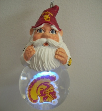 USC Light Up Gnome Snow Globe Ornament