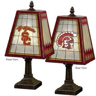 USC Small Art Glass Lamp