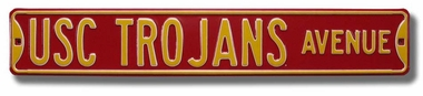 USC Trojans Ave Street Sign