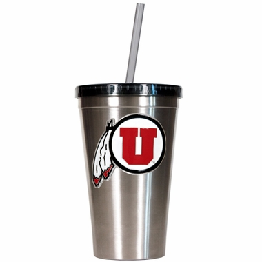 Utah 16oz Stainless Steel Insulated Tumbler with Straw