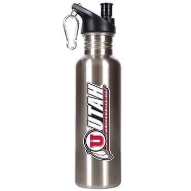 Utah 26oz Stainless Steel Water Bottle (Silver)