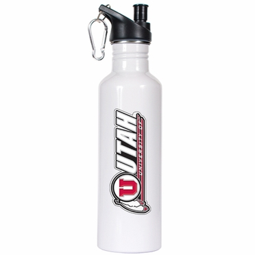 Utah 26oz Stainless Steel Water Bottle (White)