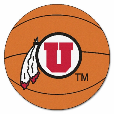 Utah Basketball Shaped Rug
