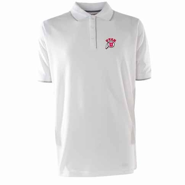Utah Mens Elite Polo Shirt (Color: White)
