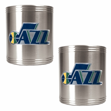 Utah Jazz 2 Can Holder Set