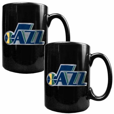 Utah Jazz 2 Piece Coffee Mug Set