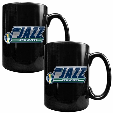 Utah Jazz 2 Piece Coffee Mug Set (Wordmark)