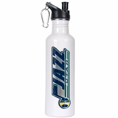 Utah Jazz 26oz Stainless Steel Water Bottle (White)