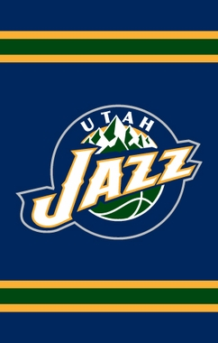 Utah Jazz Applique Banner Flag