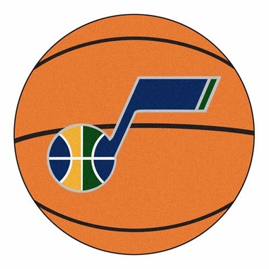 Utah Jazz Basketball Shaped Rug
