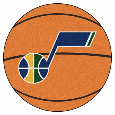 Utah Jazz 27 Inch Basketball Shaped Rug