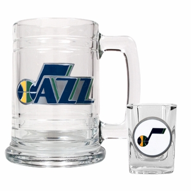Utah Jazz Boilermaker Set
