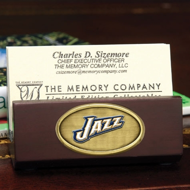 Utah Jazz Business Card Holder