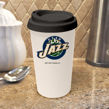 Utah Jazz Ceramic Travel Cup