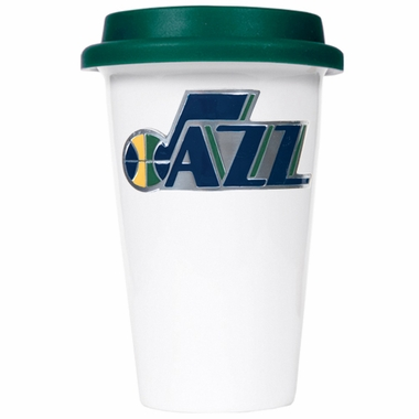 Utah Jazz Ceramic Travel Cup (Team Color Lid)