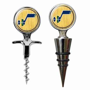 Utah Jazz Corkscrew and Stopper Gift Set