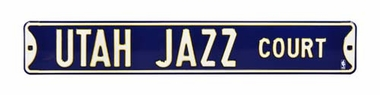 Utah Jazz Court Street Sign