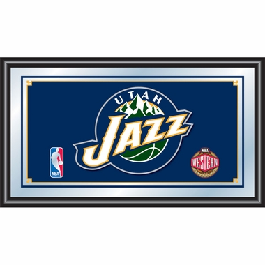 Utah Jazz Framed Logo Bar Mirror