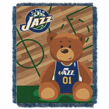 Utah Jazz Jacquard BABY Throw Blanket