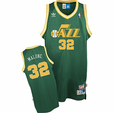 Utah Jazz Karl Malone Alternate Color Throwback Replica Premiere Jersey