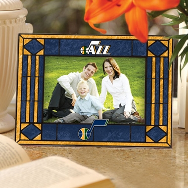Utah Jazz Landscape Art Glass Picture Frame