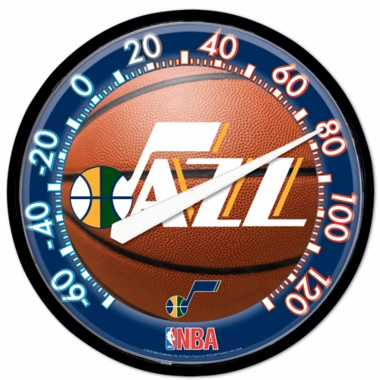 Utah Jazz Round Wall Thermometer