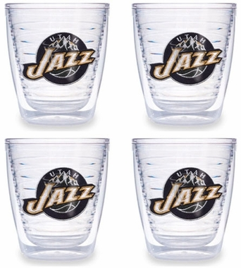 Utah Jazz Set of FOUR 12 oz. Tervis Tumblers