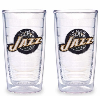 Utah Jazz Set of TWO 16 oz. Tervis Tumblers