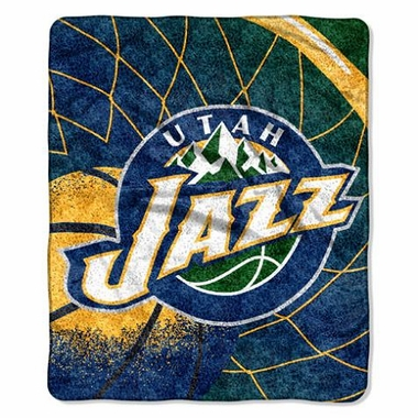 Utah Jazz Super-Soft Sherpa Blanket
