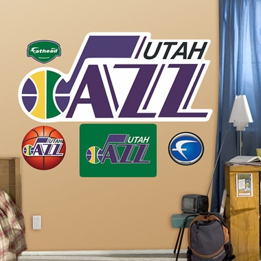 Utah Jazz Throwback Logo Fathead Wall Graphic