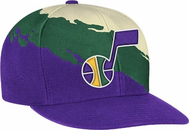 Utah Jazz Vintage Paintbrush Snap Back Hat