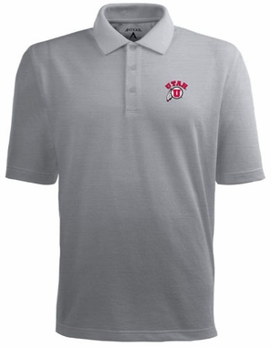 Utah Mens Pique Xtra Lite Polo Shirt (Color: Gray)