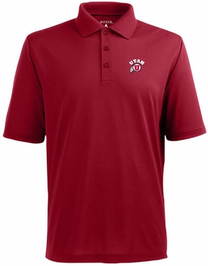 Utah Mens Pique Xtra Lite Polo Shirt (Team Color: Red)