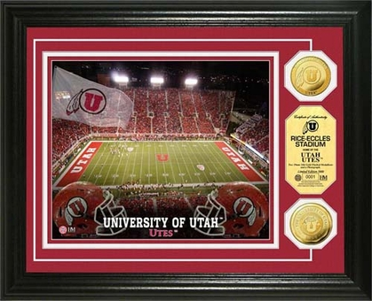 Utah Utes University of Utah Rice-Eccles Stadium 24KT Gold Coin Photomint