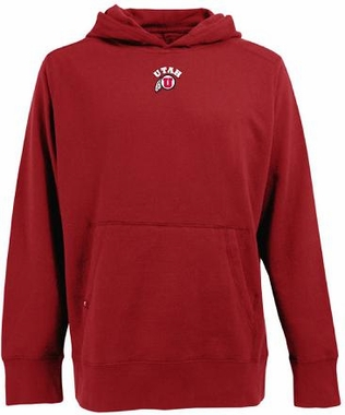 Utah Mens Signature Hooded Sweatshirt (Team Color: Red)