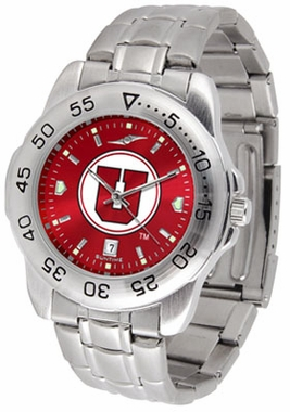 Utah Sport Anonized Men's Steel Band Watch