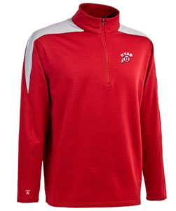 Utah Mens Succeed 1/4 Zip Performance Pullover (Team Color: Red) - Small