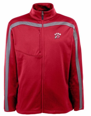 Utah Mens Viper Full Zip Performance Jacket (Team Color: Red)