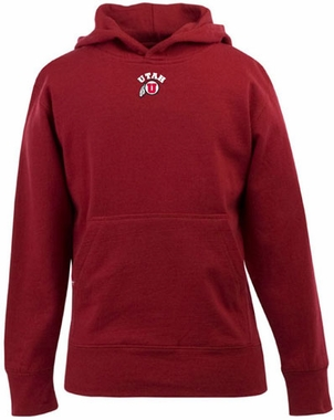 Utah YOUTH Boys Signature Hooded Sweatshirt (Color: Red)