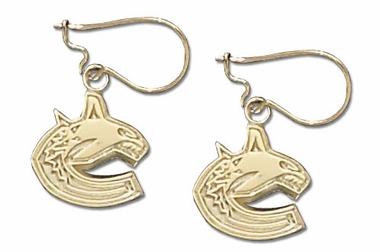 Vancouver Canucks 10K Gold Post or Dangle Earrings