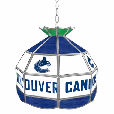 Vancouver Canucks 16 Inch Diameter Stained Glass Pub Light