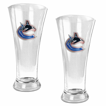 Vancouver Canucks 2 Piece Pilsner Glass Set