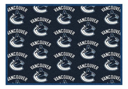 "Vancouver Canucks 5'4"" x 7'8"" Premium Pattern Rug"