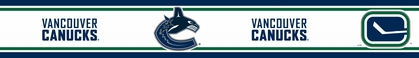 Vancouver Canucks 5.5 Inch (Height) Wallpaper Border